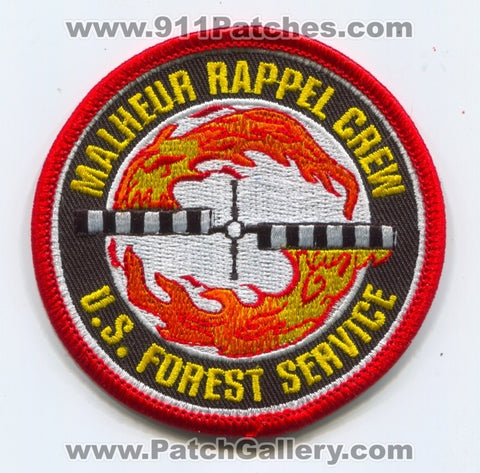 Malheur Rappel Crew Helicopter Forest Fire Wildfire Wildland USFS Patch Oregon OR