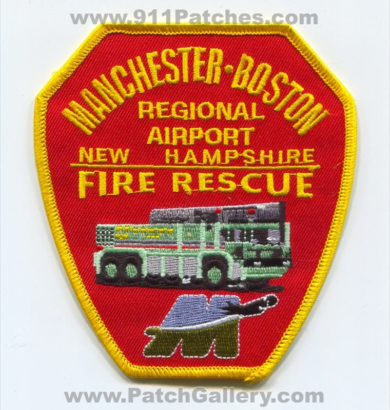 Manchester Boston Regional Airport Fire Rescue ARFF CFR Patch New Hampshire NH