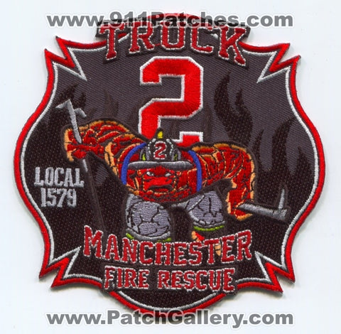 Manchester Fire Rescue Department Truck 2 Patch Connecticut CT