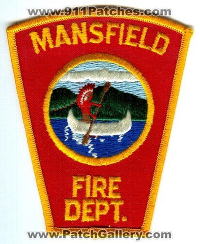 Mansfield Fire Department Patch Massachusetts MA
