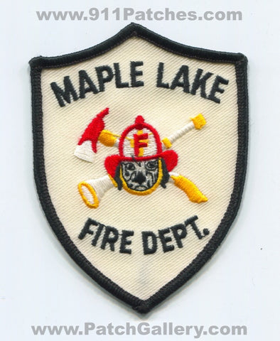 Maple Lake Fire Department Patch Minnesota MN