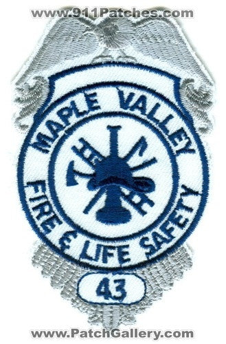 Maple Valley Fire and Life Safety Department King County District 43 Patch Washington WA