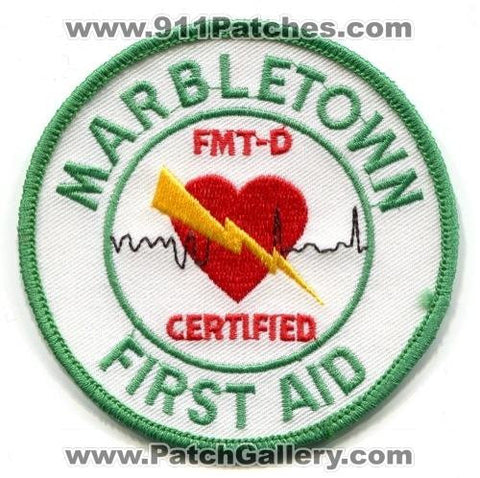 Marbletown First Aid FMT-D Certified EMS Patch New York NY