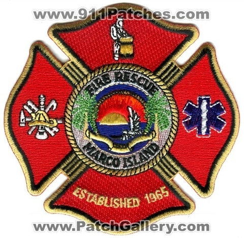 Marco Island Fire Rescue Department Patch Florida FL
