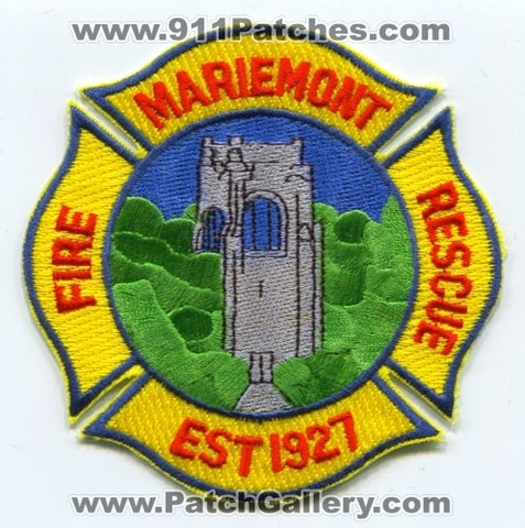 Mariemont Fire Rescue Department Patch Ohio OH