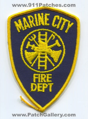 Marine City Fire Department Patch Michigan MI