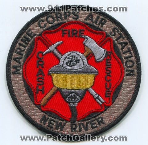 Marine Corps Air Station MCAS New River Crash Fire Rescue Department USMC Military Patch North Carolina NC