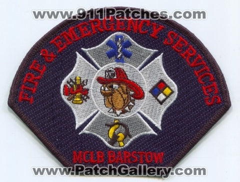 Marine Corps Logistics Base MCLB Fire and Emergency Services USMC Military Patch California CA