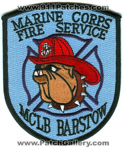 Marine Corps Landing Base MCLB Barstow Fire Service USMC Military Patch California CA
