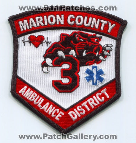 Marion County Ambulance District 1 EMS Patch Missouri MO