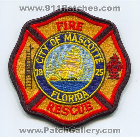 Mascotte Fire Rescue Department Patch Florida FL