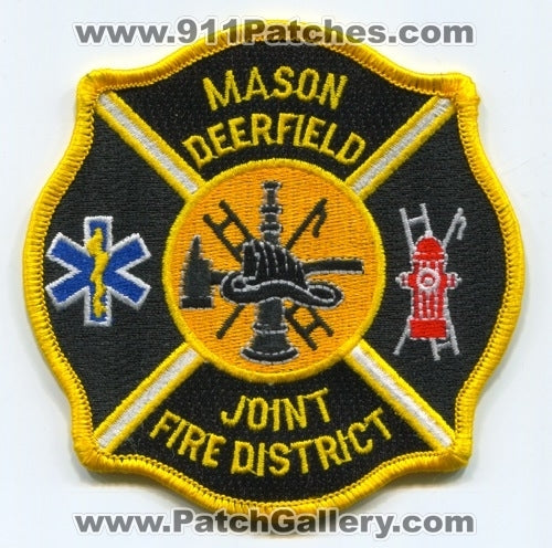 Mason Deerfield Joint Fire District Patch Ohio OH