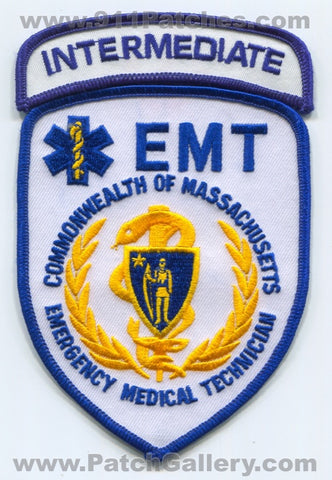 Massachusetts State Emergency Medical Technician EMT Intermediate EMS Patch Massachusetts MA