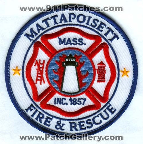 Mattapoisett Fire and Rescue Department Patch Massachusetts MA