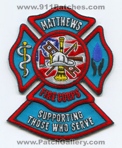 Matthews Fire and EMS Department Fire Corps Patch North Carolina NC
