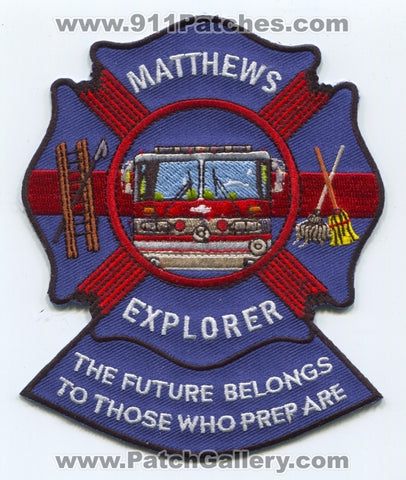 Matthews Fire Department Explorer Patch North Carolina NC