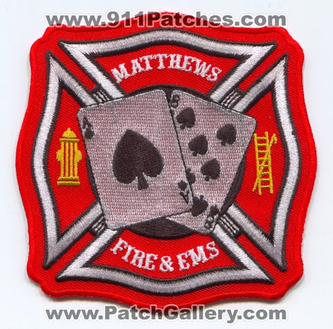 Matthews Fire and EMS Department Patch North Carolina NC