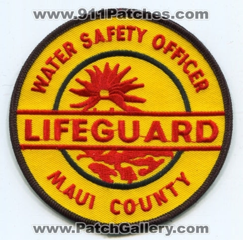 Maui County Lifeguard Water Safety Officer EMS Patch Hawaii HI