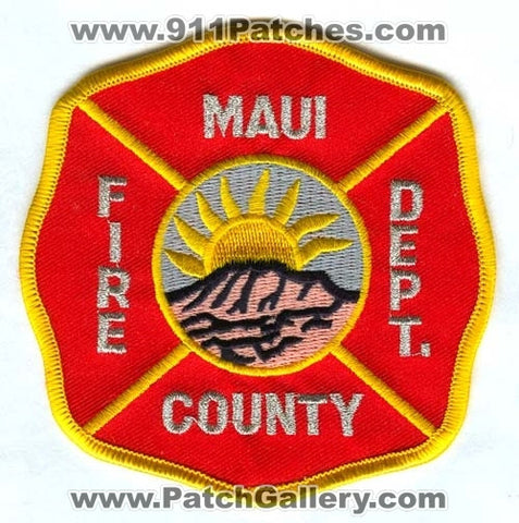 Maui County Fire Department Patch Hawaii HI
