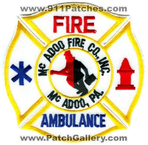 McAdoo Fire Company Inc Ambulance Patch Pennsylvania PA