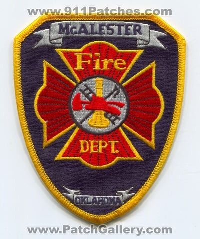 McAlester Fire Department Patch Oklahoma OK