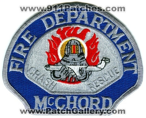 McChord Air Force Base AFB Fire Department Crash Rescue CFR USAF Military Patch Washington WA