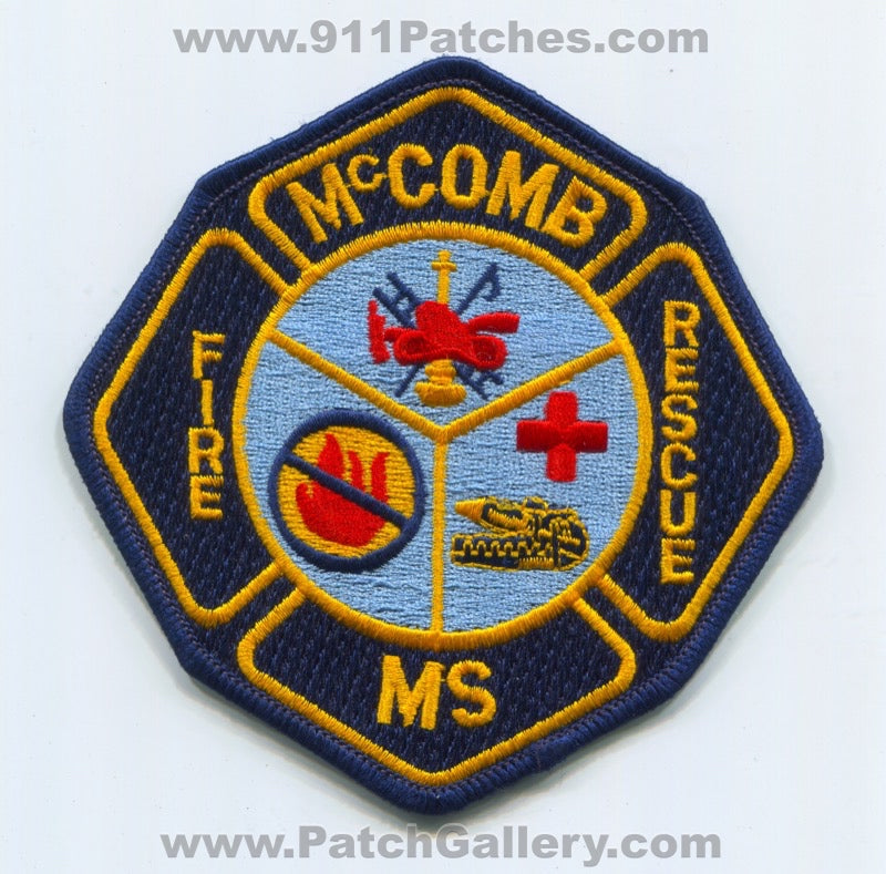 McComb Fire Rescue Department Patch Mississippi MS