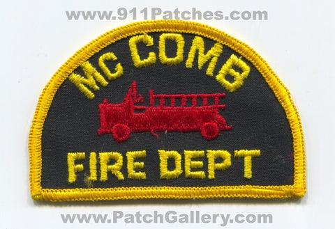 McComb Fire Department Patch Mississippi MS