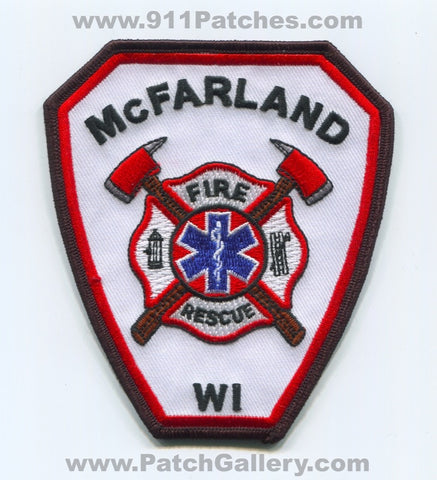 McFarland Fire Rescue Department Patch Wisconsin WI
