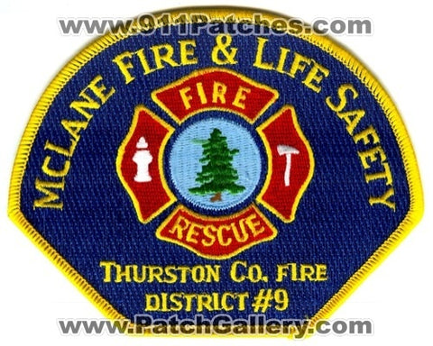 McLane Fire and Life Safety Department Thurston County District 9 Patch Washington WA