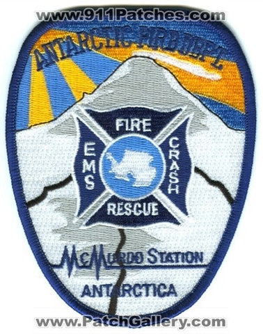 Antarctica - McMurdo Station Antarctic Fire Department Crash Fire Rescue CFR Patch