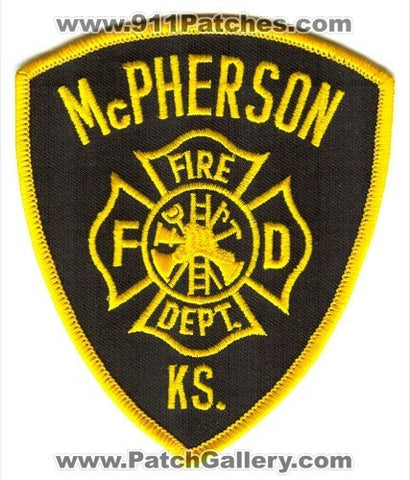 McPherson Fire Department Patch Kansas KS