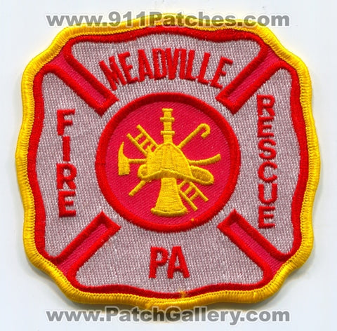 Meadville Fire Rescue Department Patch Pennsylvania PA
