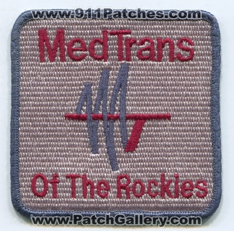 Med Trans of the Rockies EMS Patch Colorado CO