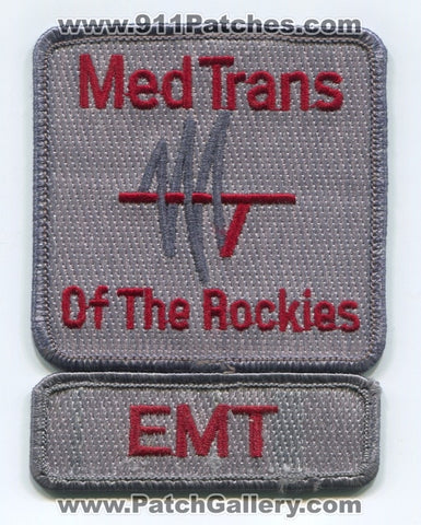 Med Trans of the Rockies EMT EMS Patch Colorado CO