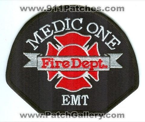 Medic One Fire Department EMT Pierce County District EMS Patch Washington WA