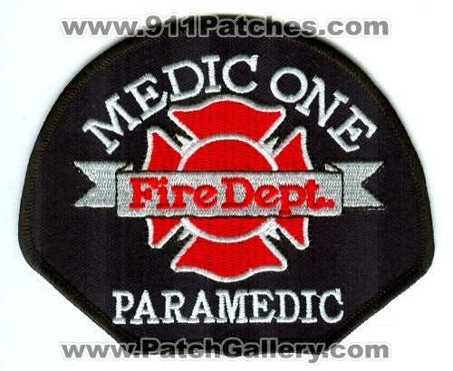 Medic One Fire Department Paramedic Pierce County District Patch Washington WA