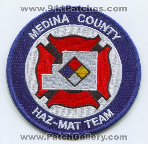 Medina County Fire Department Haz-Mat Team Patch Ohio OH