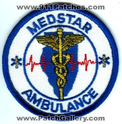 Medstar Ambulance Emergency Medical Services EMS Patch Illinois IL