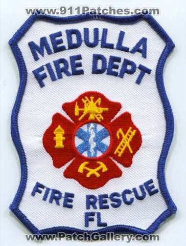 Medulla Fire Rescue Department Patch Florida FL