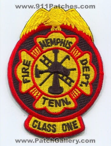 Memphis Fire Department Class One Patch Tennessee TN