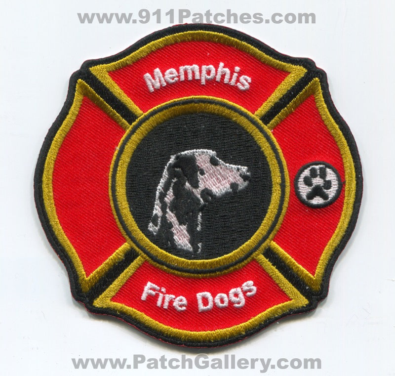Memphis Fire Department Fire Dogs Patch Tennessee TN