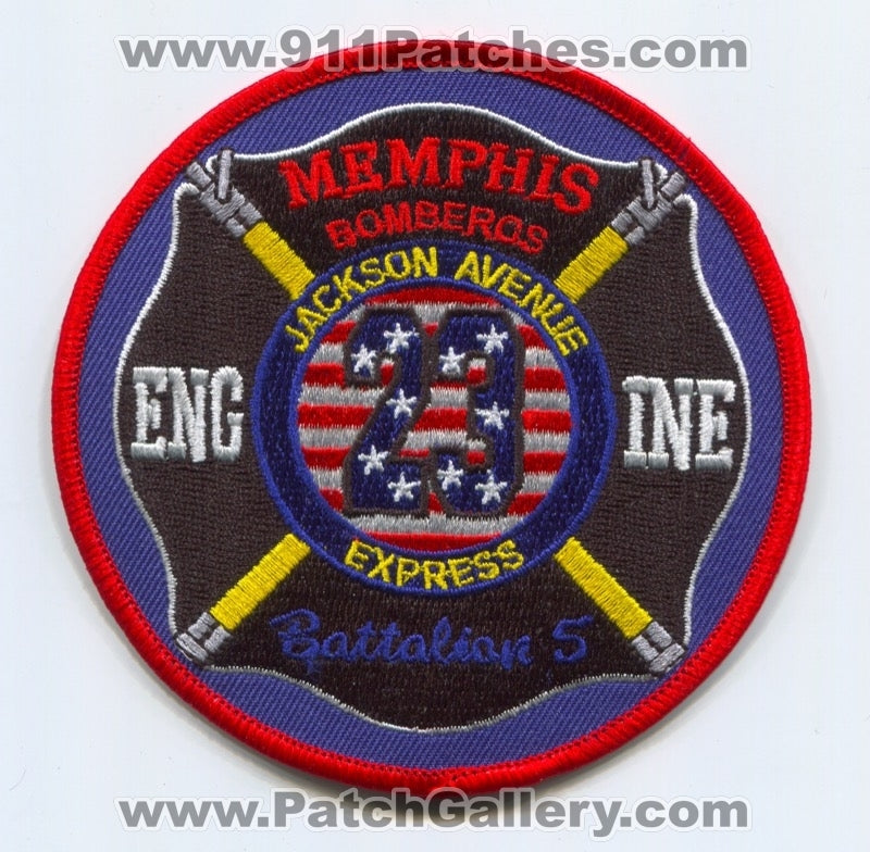 Memphis Fire Department Engine 23 Battalion 5 Patch Tennessee TN