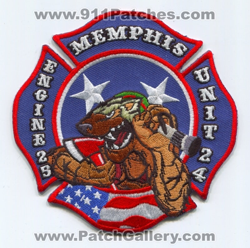 Memphis Fire Department Engine 25 Unit 24 Patch Tennessee TN
