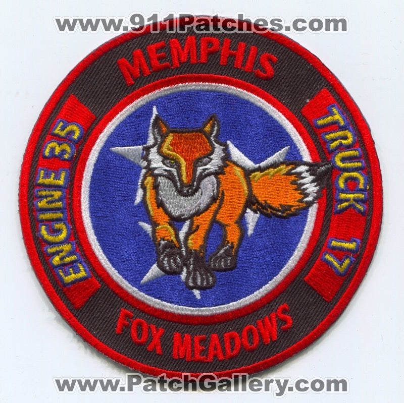 Memphis Fire Department Engine 35 Truck 17 Patch Tennessee TN