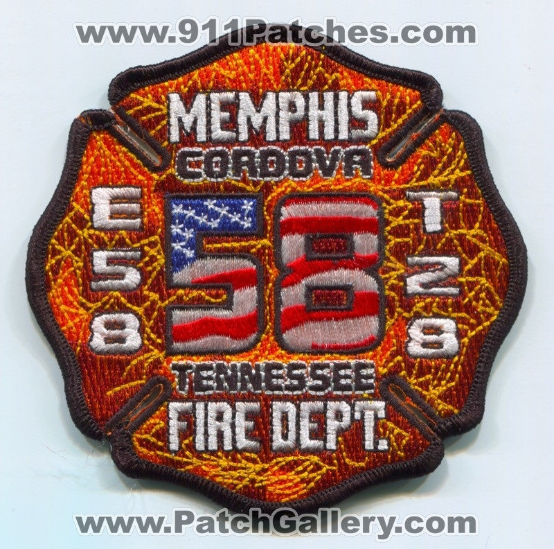 Memphis Fire Department Engine 58 Truck 28 Patch Tennessee TN