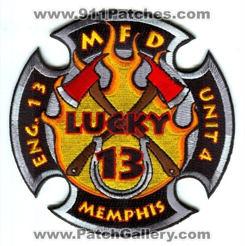 Memphis Fire Department Engine 13 Unit 4 Patch Tennessee TN