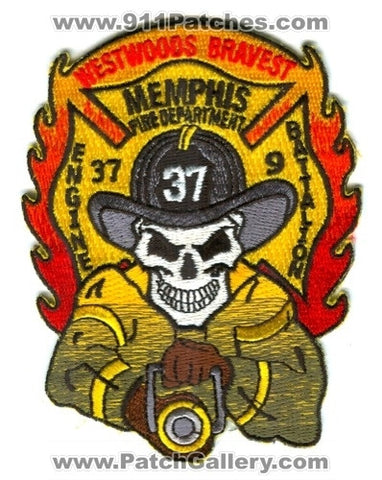 Memphis Fire Department Engine 37 Battalion 9 Patch Tennessee TN