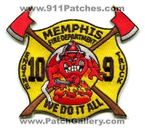 Memphis Fire Department Engine 10 Truck 9 Patch Tennessee TN
