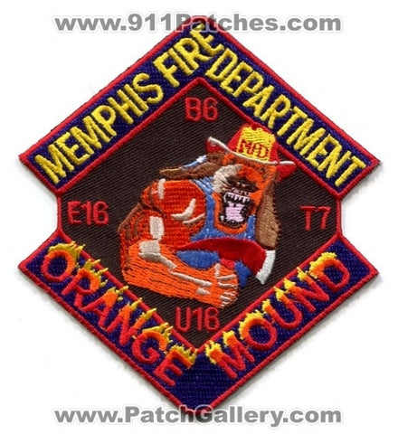 Memphis Fire Department Engine 16 Truck 7 Unit 16 Battalion 6 Patch Tennessee TN
